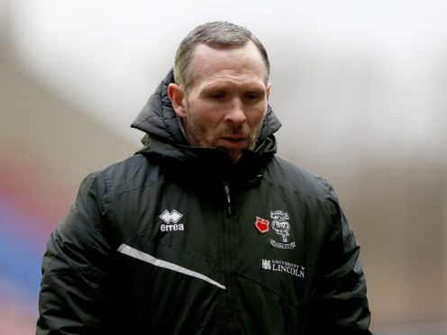 Lincoln manager Michael Appleton was less than impressed with his side's display (Tim Markland/PA).
