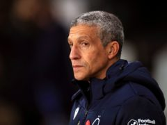 Chris Hughton's side missed a host of chances (Mike Egerton/PA)