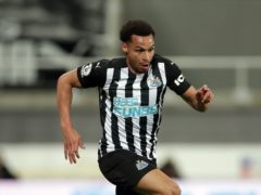Newcastle's Jacob Murphy was denied by the crossbar (Richard Sellers/PA)
