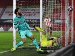 Mohamed Salah was delighted as Liverpool ended a run of four successive league defeats on Sunday (Lee Smith/PA)