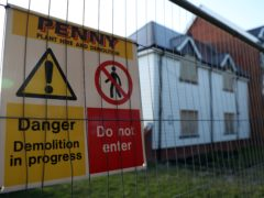 Demolition work at the former home of Novichok victim Charlie Rowley (Andrew Matthews/PA)
