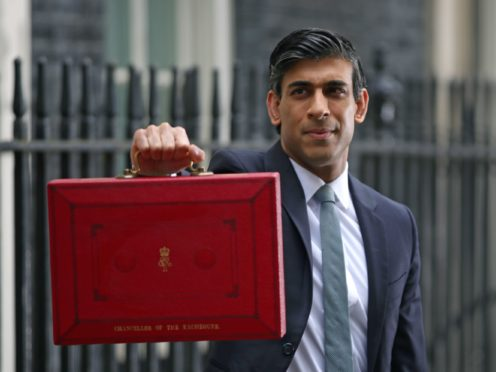 Chancellor of the Exchequer, Rishi Sunak outside 11 Downing Street (PA)