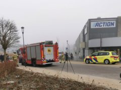 Emergency services attend the scene close to the coronavirus testing station in Bovenkarspel (Stefanie ter Koele/AP)