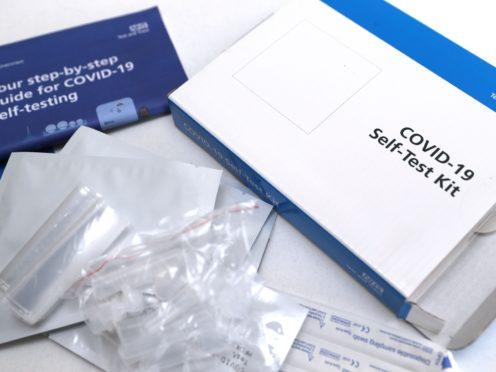 A Covid-19 self-test kit (David Davies/PA)