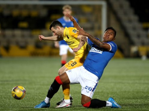 Livingston' Jason Holt (left) was left 'gutted' again after the Lions late defeat to Rangers (Andrew Milligan/PA)