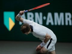 Andy Murray smashed a racket on the way to defeat (Peter Dejong/AP)