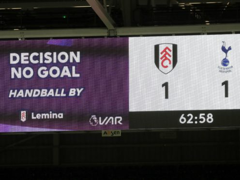 Fulham were denied a goal by a controversial handball decision in Thursday's defeat to Tottenham (Kirsty Wigglesworth/PA).