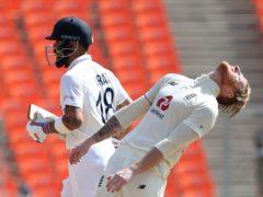 Ben Stokes win his battle with Virat Kohli on day two (Aijaz Rahi/AP)