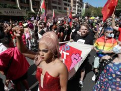 Hundreds of protesters march in Sydney (AP/Rick Rycroft)