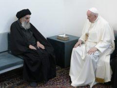 Pope Francis and Grand Ayatollah Ali al-Sistani (AP/Vatican Media)