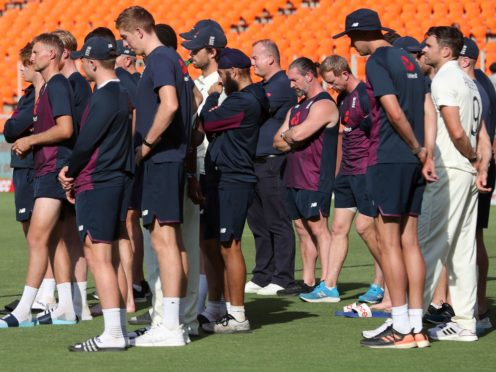England were left to play the role of spectators as India got to celebrate a 3-1 Test series victory (Aijaz Rahi/AP)
