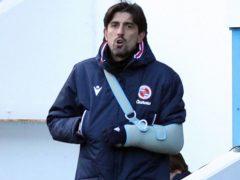 Veljko Paunovic had his arm in a sling (Jonathan Brady/PA)