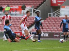 Rhys Norrington-Davies opened the scoring for Stoke (Barrington Coombs/PA)