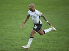 Andre Ayew celebrates scoring Swansea's winner (Nick Potts/PA)