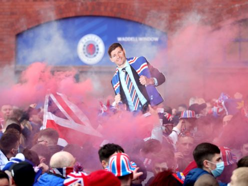 Rangers fans are celebrating the club's Scottish Premiership title triumph (Jane Barlow/PA)