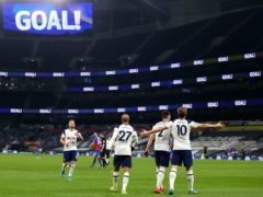Tottenham made it three wins in a row with a 4-1 victory over Crystal Palace (Julian Finney/PA)