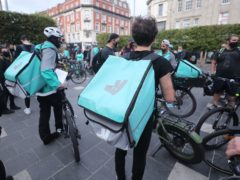 Deliveroo shares plunge on first day of trading (Niall Carson/PA)