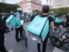 Deliveroo has seen shares plunge on its first day as a publicly listed company (Niall Carson/PA)