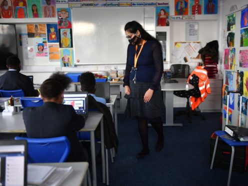 Back to class at the Jewellery Quarter Academy in Birmingham (Jacob King/PA)