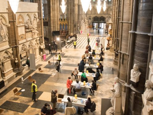 Covid-19 vaccinations take place at a new vaccination site at Poets' Corner in Westminster Abbey, London (Stefan Rousseau/PA)