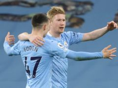 Kevin De Bruyne (right) is not looking to the past as Manchester City chase Champions League glory (Clive Brunskill/PA)