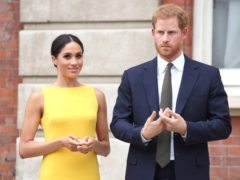 The Duke and Duchess of Sussex said a member of the royal family made a racist comment about their son (Yui Mok/PA)