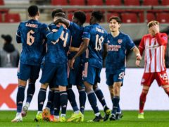 Arsenal earned a first-leg lead over Olympiacos (PA Wire)