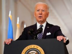 President Joe Biden offered Americans hope as he used his first speech since becoming president to announce his plan to make all adults coronavirus vaccine-eligible by May 1 (Andrew Harnik/AP)