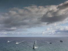 Ships on exercises in the Baltic (LPhot Dan Rosenbaum/MoD Crown Copyright)