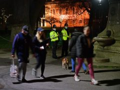 Police officers at Clapham Common carry out reassurance patrol (Ian West/PA)