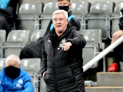 Newcastle head coach Steve Bruce was delighted with his team's late fightback against Aston Villa (Clive Brunskill/PA)