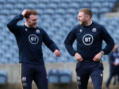 Scotland skipper Stuart Hogg (left) will take over the 10 jersey from Finn Russell, who sits out Saturday's clash with Italy because of a concussion (Jane Barlow/PA)