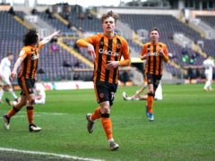 Keane Lewis-Potter scored both Hull goals (Zac Goodwin/PA)