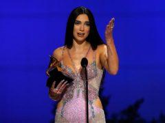 Dua Lipa celebrated 'female empowerment' after women dominated the Grammy Awards (Chris Pizzello/AP)