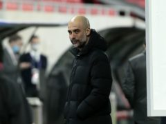 Manchester City manager Pep Guardiola tried to take his mind off the Champions League quarter-finals after easing into them (Trenka Atilla/PA)