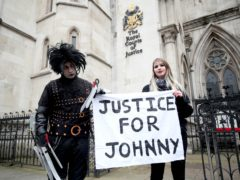 Johnny Depp is trying to overturn last year's court ruling (Yui Mok/PA)