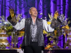Robert Rinder performing Be Our Guest from Beauty And The Beast (Kieron McCarron/ITV)