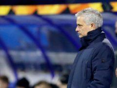 Jose Mourinho said Tottenham's Europa League defeat to Dinamo Zagreb was one of his worst nights in management (Darko Bandic/AP)
