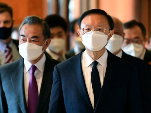 Chinese foreign affairs chief Yang Jiechi, right, and China's State councillor Wang Yi, left (AP)