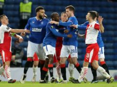 Rangers and Slavia Prague were involved in a controversial Europa League tie on Thursday night (Andrew Milligan/PA)