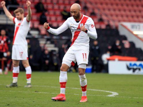 Nathan Redmond struck twice for Southampton (Adam Davy/PA)
