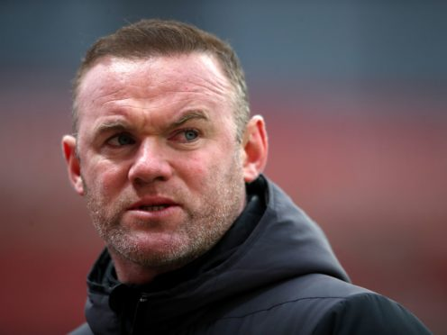Derby boss Wayne Rooney was unhappy with his team's performance against Stoke (Nick Potts/PA)