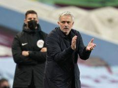 Jose Mourinho feels his dressing room is divided (Tim Keeton/PA)