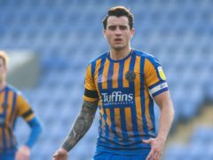 Shrewsbury skipper Olvier Norburn is serving out a two-match suspension (Barrington Coombs/PA)