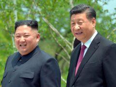 North Korean leader Kim Jong Un, left, and Chinese President Xi Jinping in 2019 (Korean Central News Agency/Korea News Service via AP, File)