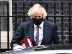Boris Johnson leaves 10 Downing Street to attend Prime Minister's Questions at the Houses of Parliament (Stefan Rousseau/PA)