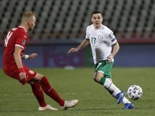 Republic of Ireland midfielder Josh Cullen (right) got the nod in Belgrade on Wednesday evening (Novak Djurovic/PA)