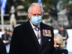 The Prince of Wales during a wreath-laying ceremony at the Memorial of the Unknown Soldier in Syntagma Square, Athens (PA)