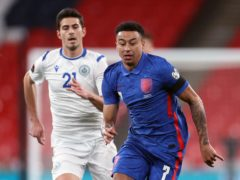 Jesse Lingard returned to the England fold at Wembley (Carl Recine/PA)