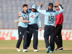 Mark Wood took three late wickets (Rafiq Maqbool/AP)